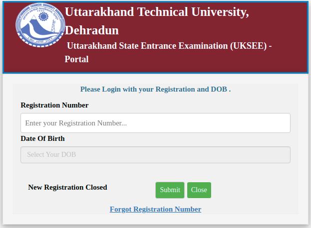 UKSEE Admit Card 2019 login