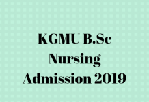 KGMU B.Sc Nursing Admission 2019 (1)