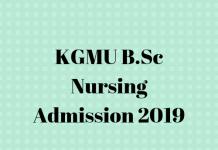 KGMU B.Sc Nursing Admission 2019 (1)