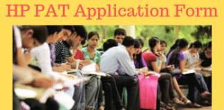 HP PAT Application Form