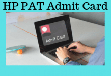 HP PAT Admit Card