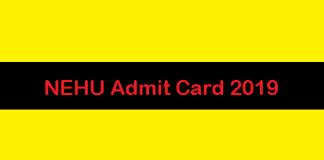 NEHU Admit Card