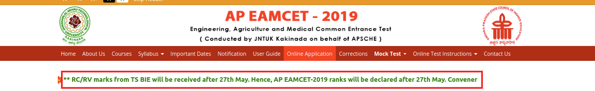 APEAMCET Result Release Date