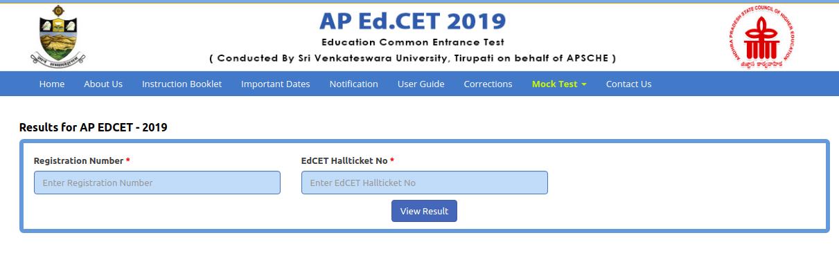 AP EDCET Result 2019