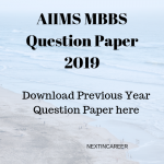 AIIMS MBBS Question Paper 2019