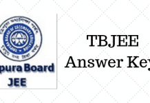 TBJEE Answer Key