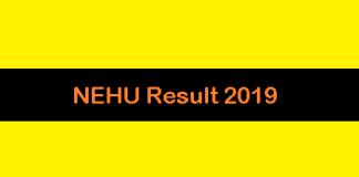 NEHU Result 2019