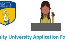 Amity University Application Form