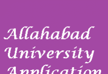 Allahabad University Application Form