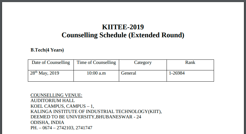 KIITEE Extended Counselling 2019