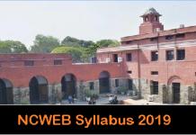 NCWEB Syllabus 2019