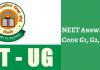 NEET Answer Key 2019 Code G1, G2, G3, G4, G5, G6