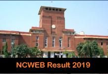 NCWEB Result 2019