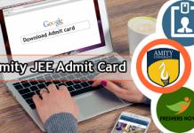 Amity JEE Admit Card
