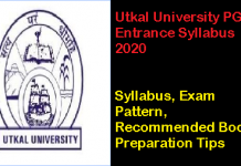 Utkal University PG Entrance Syllabus 2020