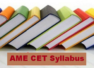 AME CET Syllabus