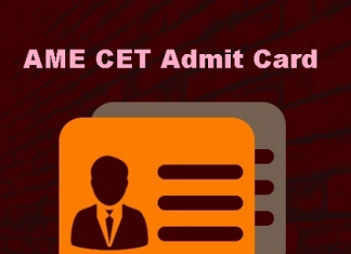 AME CET Admit Card