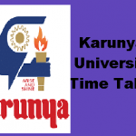 Karunya University Time Table