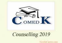 COMEDK Counselling 2019