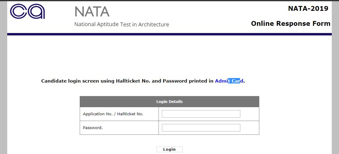 NATA Test 1 Response 2019