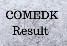 COMEDK Result