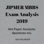 JIPMER MBBS Exam Analysis 2019