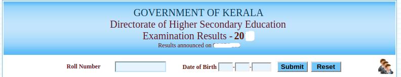 Kerala Board HSE Result Login Section