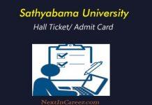 Sathyabama University Hall Ticket