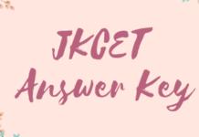 JKCET Answer Key
