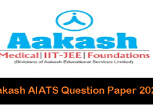 Aakash AIATS Question Paper