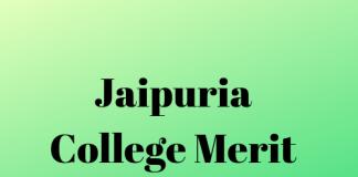 Jaipuria College Merit List - Released