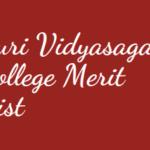 Suri Vidyasagar College Merit List