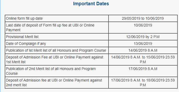 Balarampur college schedule 2019