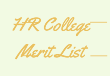 HR College Merit List