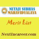 Netaji Subhas Mahavidyalaya Merit List