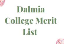 Dalmia College Merit List