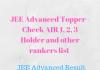 JEE Advanced Topper