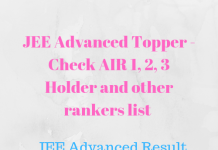 JEE Advanced Topper