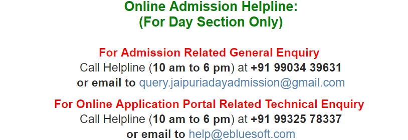 Jaipuria Admission 2019 Helpline Number