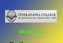 Vivekananda College Thakurpukur Merit List