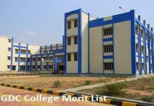 GGDC College Merit List