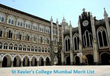 St Xaviers College Mumbai Merit List