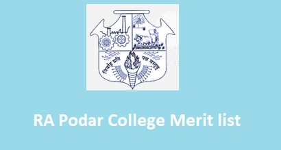 RA Podar College Merit list 2019: 3rd Merit List Cut Off