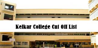 Kelkar College Cut Off List