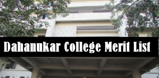 Dahanukar College Merit List