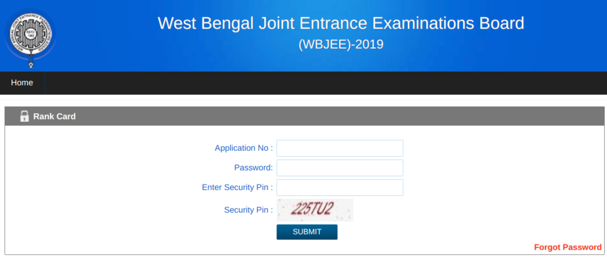 WBJEE Rank Card 2019 Login