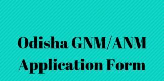 Odisha GNM_ANM Application Form
