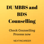 DU MBBS and BDS Counselling