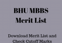 BHU MBBS Merit List