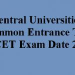 CUCET Exam Date 2020